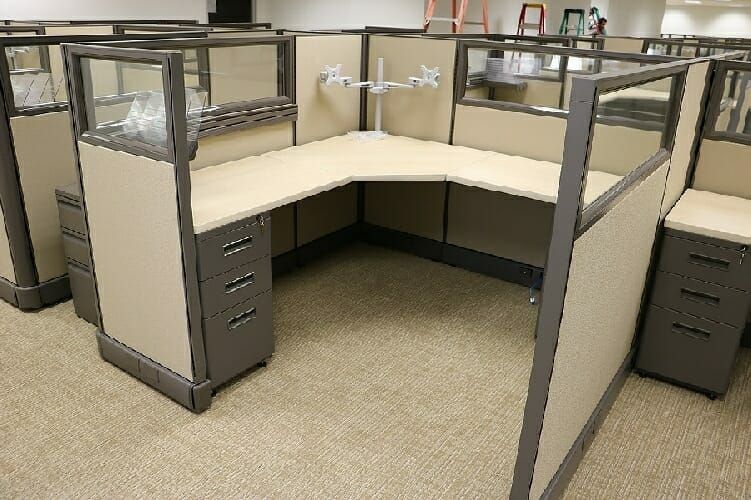 Office Furniture: Cubicles Open Plan Reducing Space
