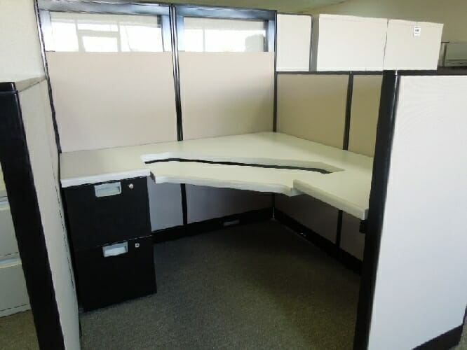 steelcase avenir 5x5 office cubicles